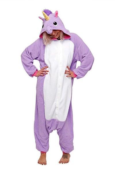 Pyjama licorne violet