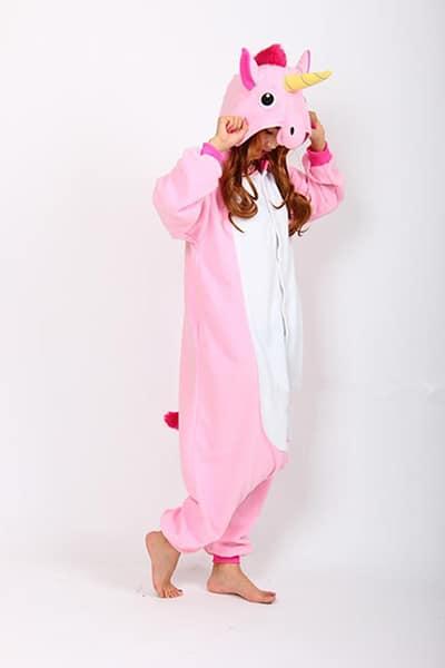 Pyjama Licorne Unicorne rose Adulte