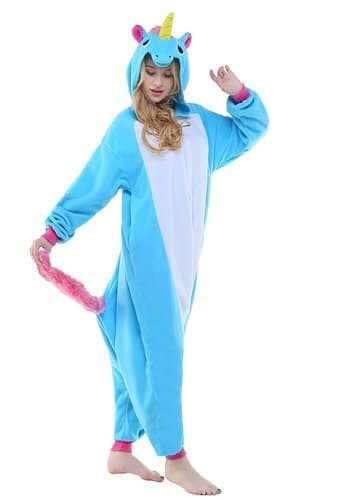 Photo d'un pyjama licorne bleu