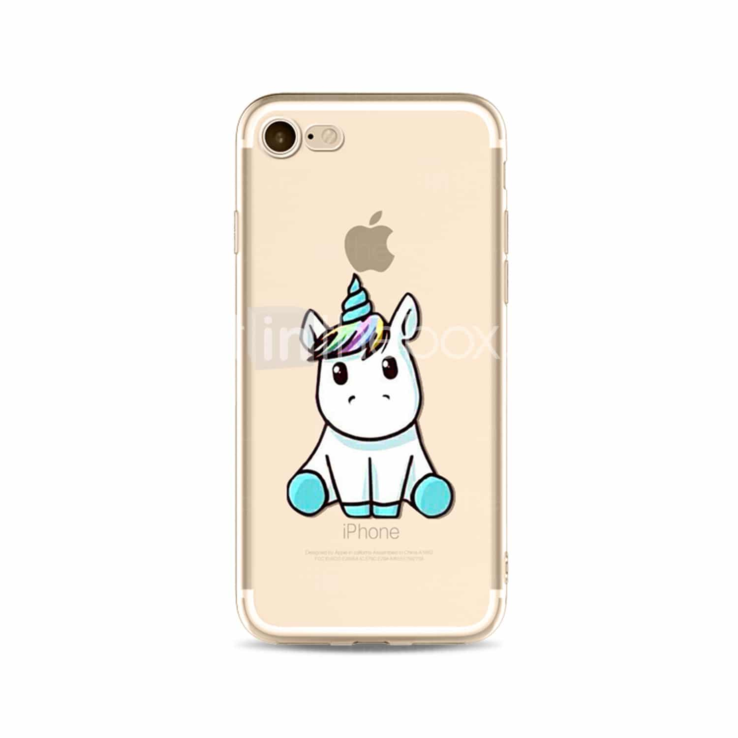 coque iphone 7 licorne rose