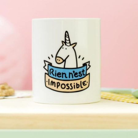 Mug licorne Rien n'est impossible
