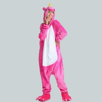 Pyjama licorne rose fushia