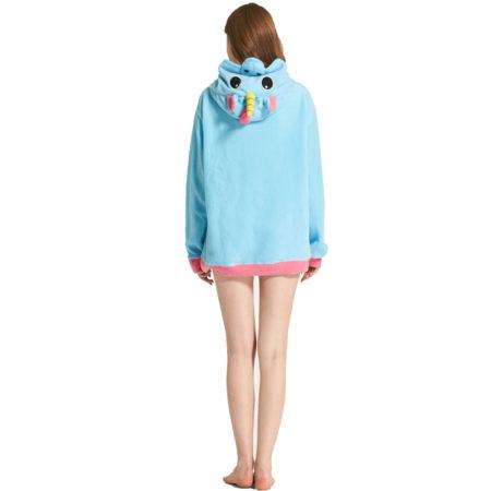 Arrière du Haut de pyjama licorne - sweetshirt