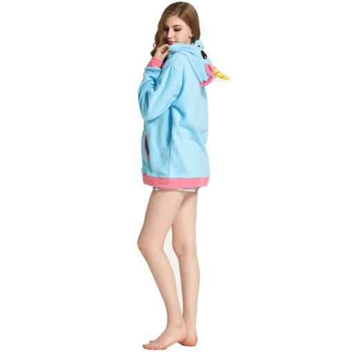 Coté du pyjama licorne - sweetshirt