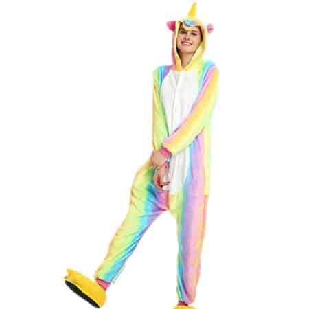 Pyjama licorne arc en ciel