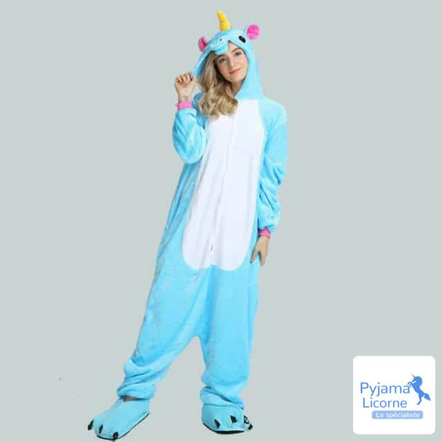 Pyjama licorne bleu clair