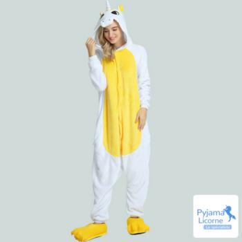 Pyjama licorne jaune