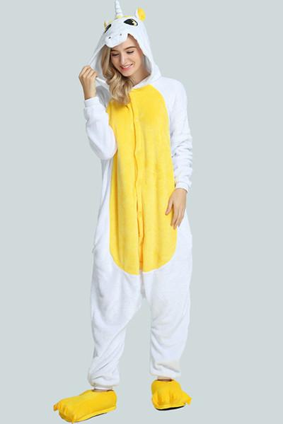 Combinaison pyjama licorne jaune
