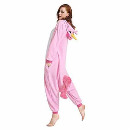 Pyjama licorne rose profil