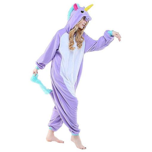 Pyjama licorne violet adulte