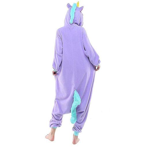 Pyjama licorne violet dos