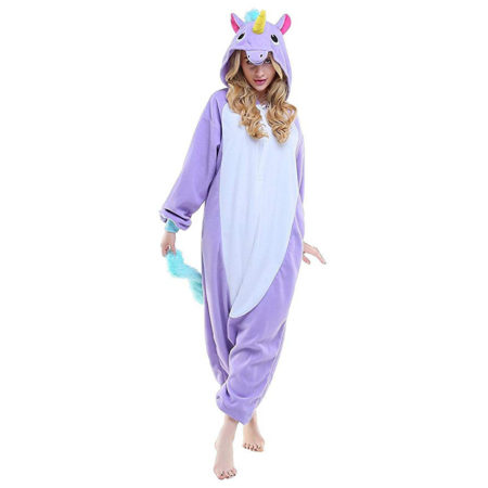 Pyjama licorne violet face