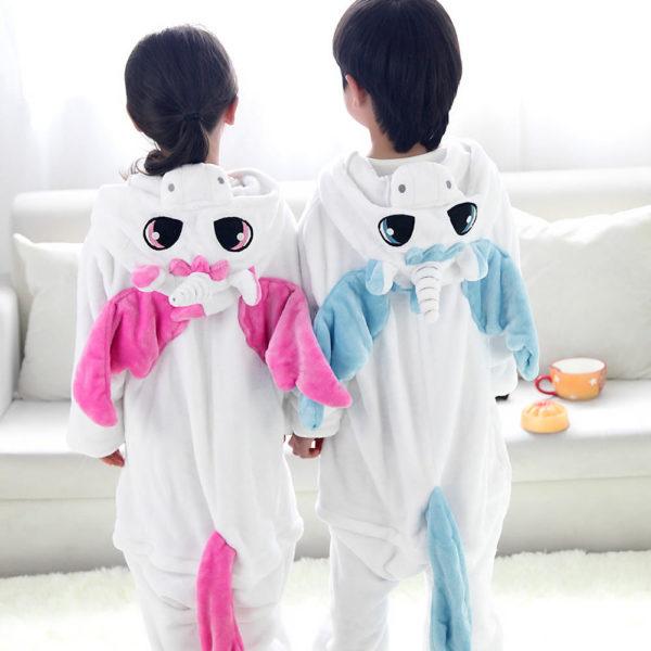 Pyjama licorne enfant de dos