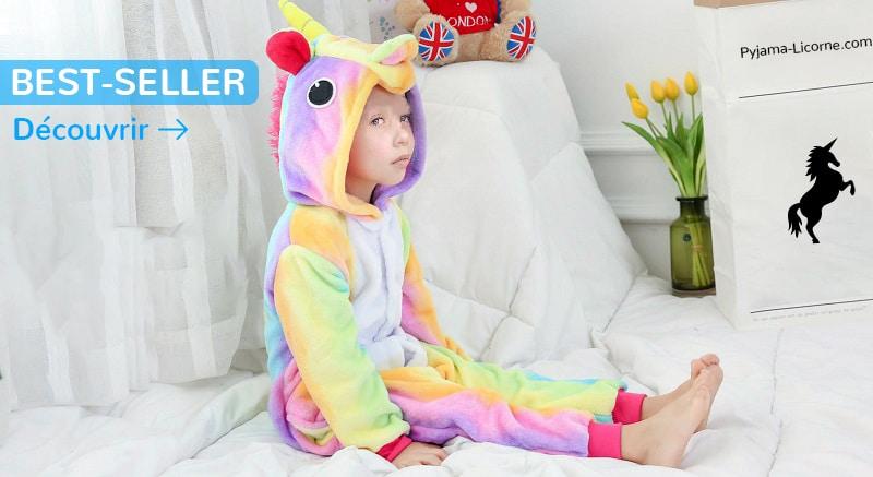 Nos différents pyjamas licornes